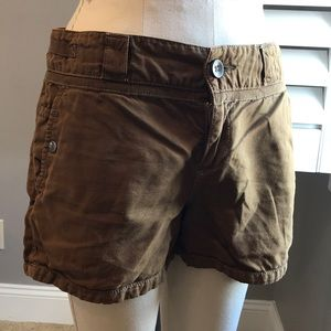 Anthropologie brown twill shorts size 6